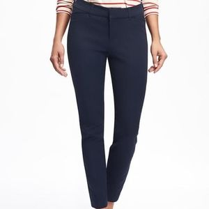 Old Navy Mid Rise Navy Ankle Pixie Pant Size 8